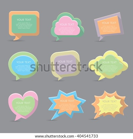 Word bubble vector icons