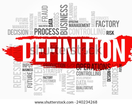 Word cloud of DEFINITION related items, vector background - stock vector