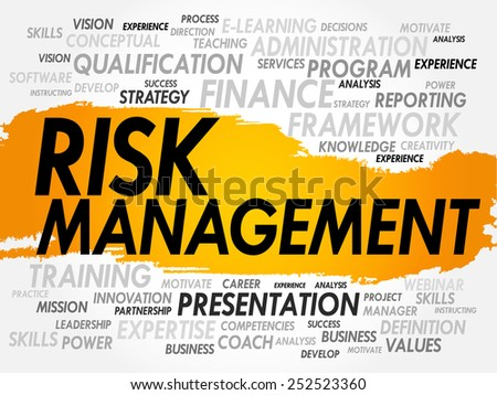 Word cloud of Risk Management related items, business concept - stock vector