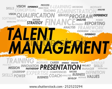Word cloud of Talent Management related items, business concept - stock vector