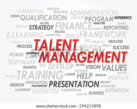 Word cloud of Talent Management related items, vector presentation background - stock vector