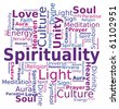 Word Cloud - Spirituality - stock photo