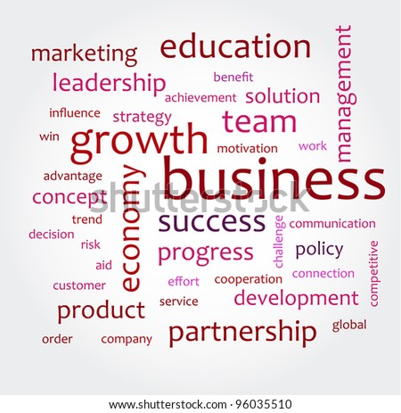 Word cloud with business concepts - stock vector
