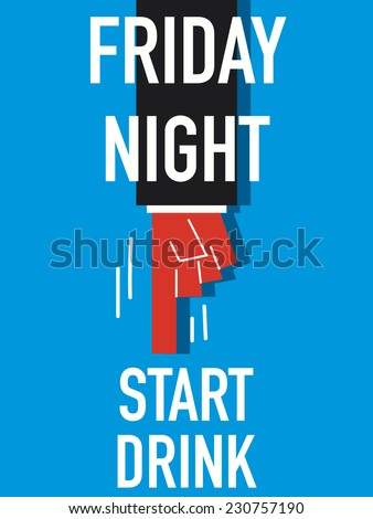 Word FRIDAY NIGHT  - stock vector