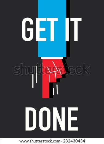 Word GET IT DONE - stock vector