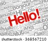 Word HELLO in different languages, presentation background - stock vector