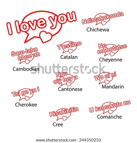Word love you different languages love stock vector 244350250 word i love you in different languages love concept thecheapjerseys Choice Image