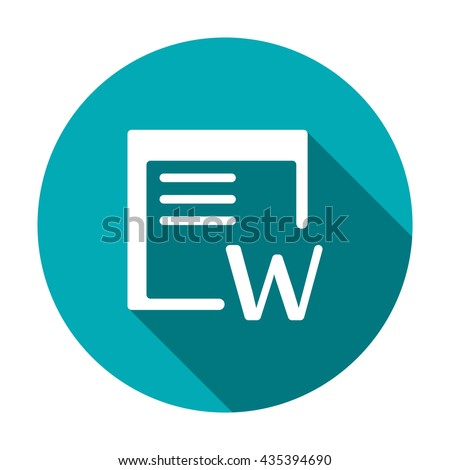 Word Icon JPG, Word Icon Graphic, Word Icon Picture, Word Icon EPS, Word Icon AI, Word Icon JPEG, Word Icon Art, Word Icon, Word Icon Vector, Word sign, Word symbol - stock vector