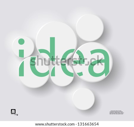 "word ""idea"" in circles - stock vector"