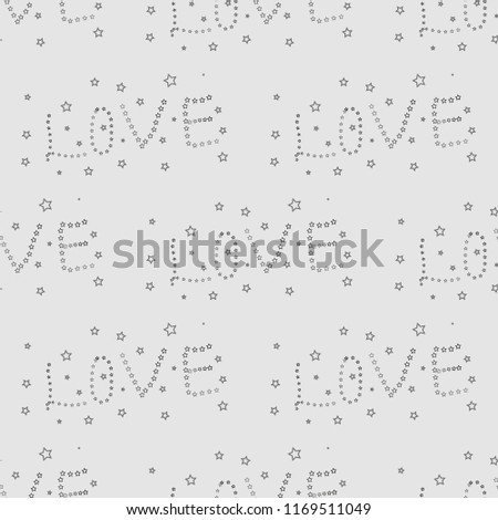 Word Love Print Pattern For Fabric Postcard Banner Background Wallpaper