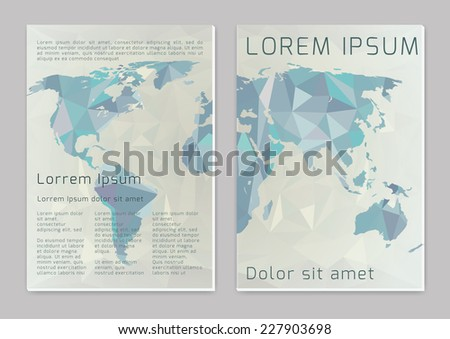 Word map. Vector  business brochure or magazine cover  template - stock vector