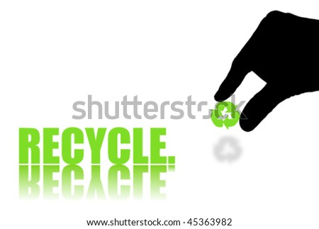 Word RECYCLE Isolated on White Background - stock vector