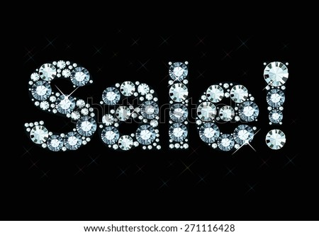 Word Sale Made Of Shiny Diamonds - stock vector