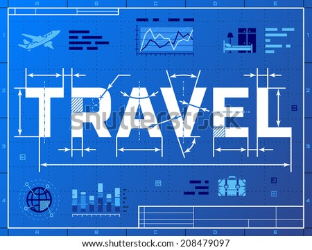Book tour stock images royalty free images vectors shutterstock word travel like blueprint drawing stylized drafting of tourism on blueprint paper qualitative vector malvernweather Gallery