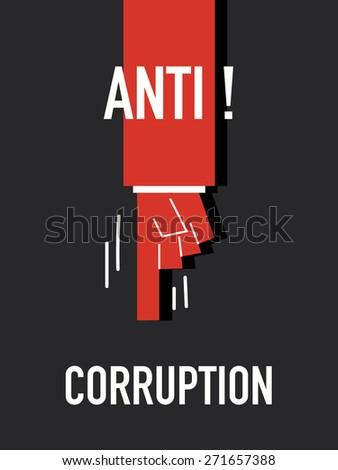 Words ANTI CORRUPTION - stock vector