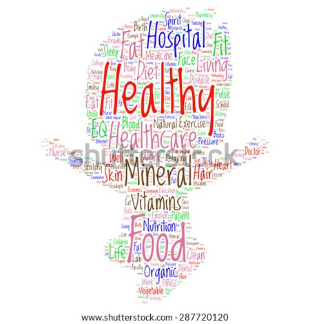 words cloud related to healthy lifestyle