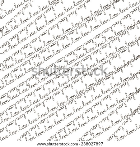 Words - love pattern. EPS 10 vector file included