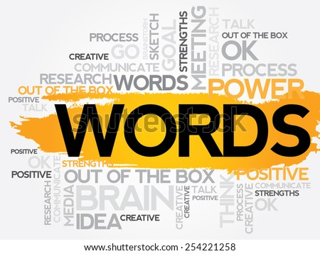 WORDS word cloud, business concept - stock vector