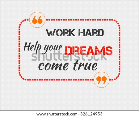 Work Hard Help Your Dreams Come Stock Vector Shutterstock - Rounded corner business card template
