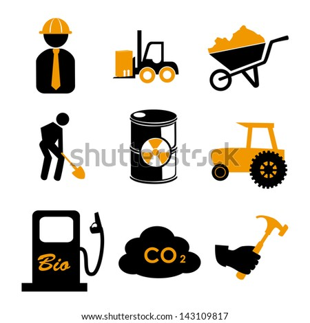 work icons over white background vector illustration