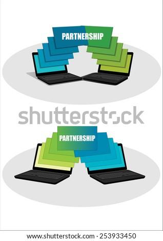 Work in Partnership - stock vector
