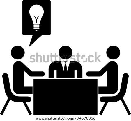 work meeting - stock vector