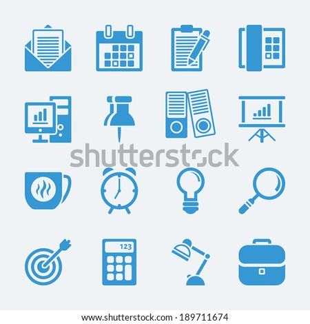 Work office icons.Vector EPS10