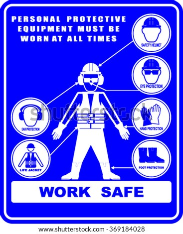 work safety, sign vector - stock vector