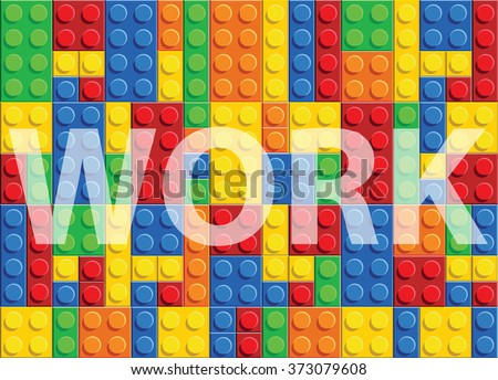 Work - seamless vector pattern of plastic parts - stock vector