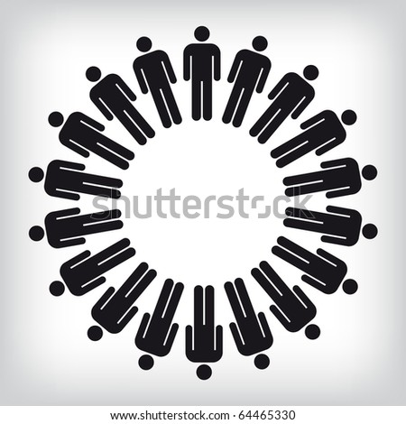 Work team concept. Vector illustration. - stock vector