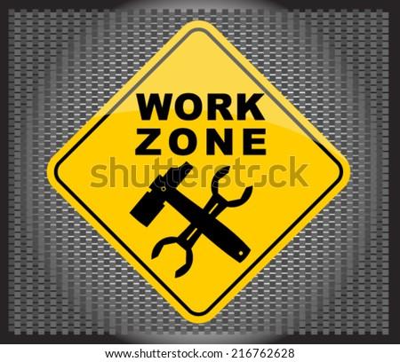 work zone - stock vector