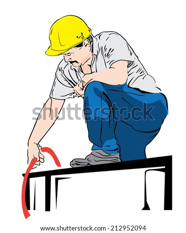 worker - stock vector