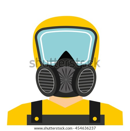 worker man uniform security icon graphic isolated vector