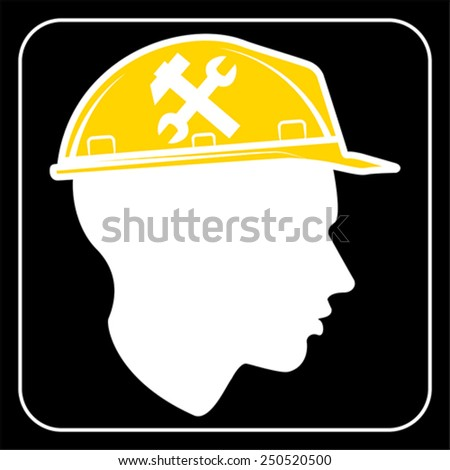 worker sign - Construction Site, vector - stock vector
