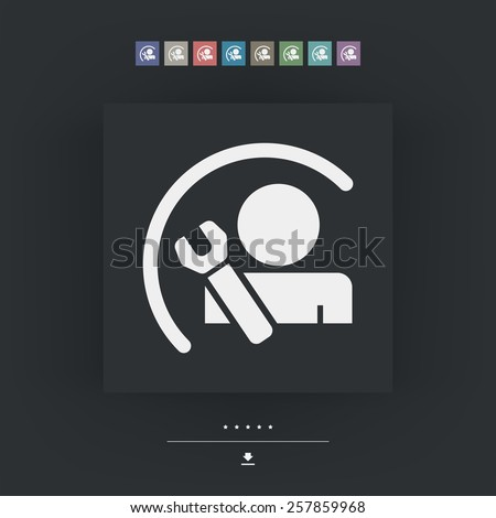 Worker symbol - stock vector