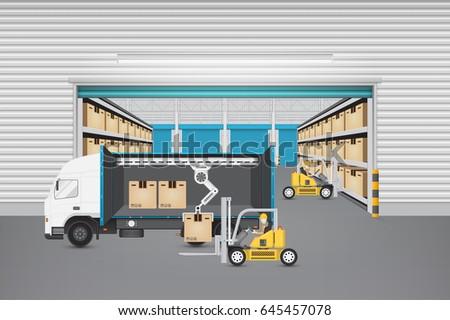 forklift lorry stock images royalty free images vectors shutterstock. Black Bedroom Furniture Sets. Home Design Ideas