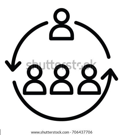 Workforce Organization Vector Icon Stock Vector 706437706 Shutterstock