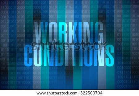 working conditions binary background sign concept illustration design graphic