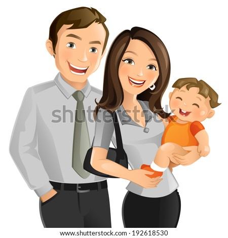 Working Couple - stock vector