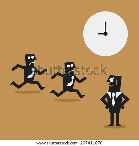 working time - stock vector