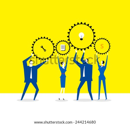 Working together - stock vector