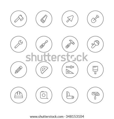 Working Tools Icons - stock vector