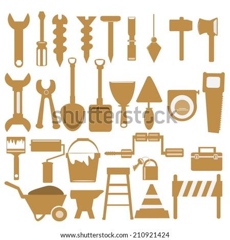 Working tools orange icon - stock vector