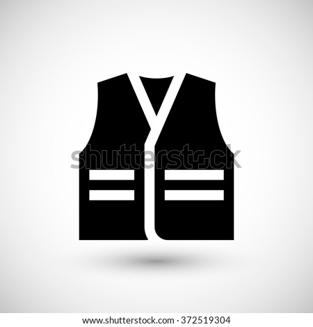 Working vest icon - stock vector