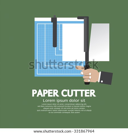 Working With Paper Cutter Paper Cutter Vector Illustration - stock vector