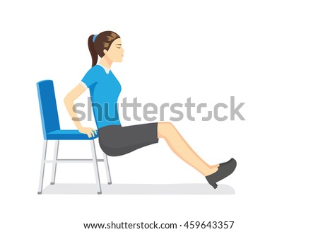 chair exercise stock images, royalty-free images & vectors