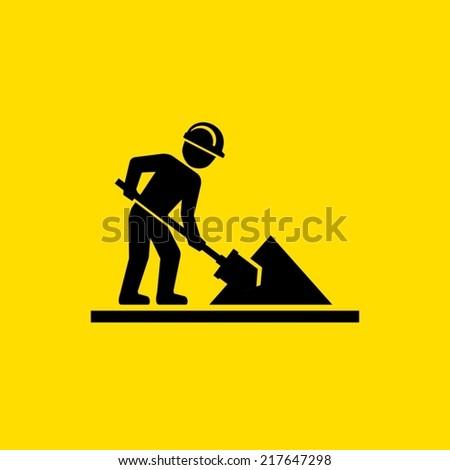 Workman sign - stock vector