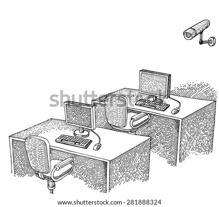 Workplace - stock vector