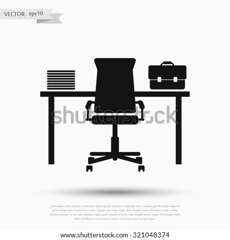workplace. vector illustration