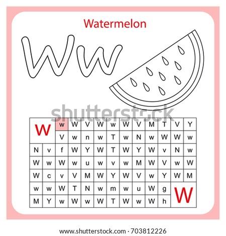 Learning Alphabet. Worksheet For Preschool Children, Kids. Task   Go By
